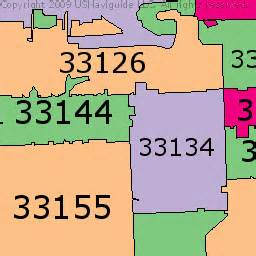 Zip Code Map Miami by South Beach Fl Zip Codes C Wall Decal