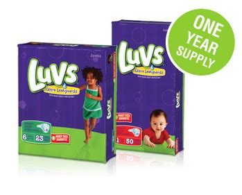 Diapers For A Year Sweepstakes - disposable diapers for a year sweepstakes from luvs mumblebee inc