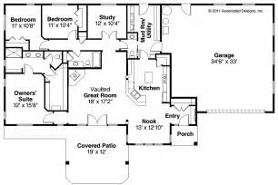 Ranch Floor Plan by Ranch House Plans Elk Lake 30 849 Associated Designs