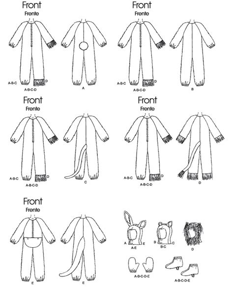 McCall's 6106 Adults'/Kids' Animal Costumes