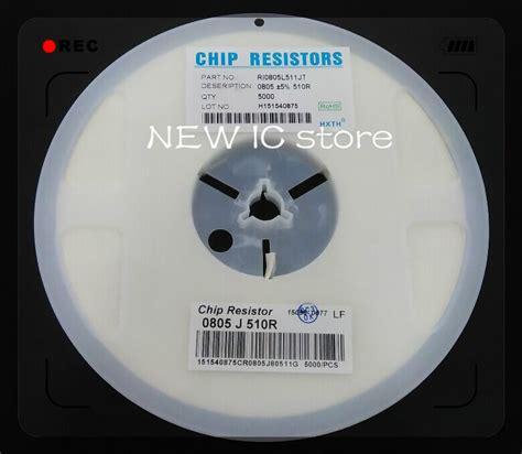 Resistor Smd 510 Ohm 0805 5 10pcs 510 r 0805 5 510r 510ohm smd resistor 5000pcs chip resistor electronic components package