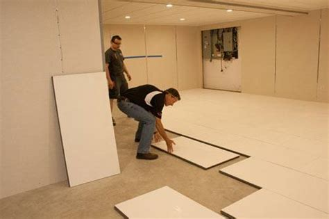 how to insulate a concrete basement floor thermaldry 174 insulated floor decking basement subfloor system