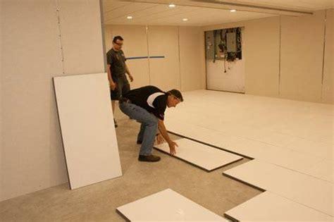 insulating a basement floor thermaldry 174 insulated floor decking basement subfloor system