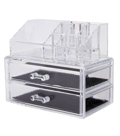 cassettiera porta trucchi cosmetic organizer 2 cassetti porta trucchi