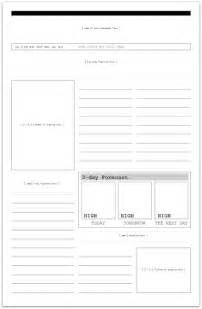 blank newspaper template for