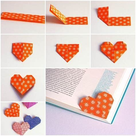 Origami Bookmark Tutorial - best 20 origami hearts ideas on