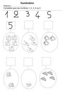 Maternelle : les nombres de 1 à 5 - preprof