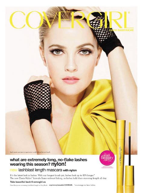 Drew Barrymore Covergirl by Drew Barrymore For Covergirl Fashion Ads
