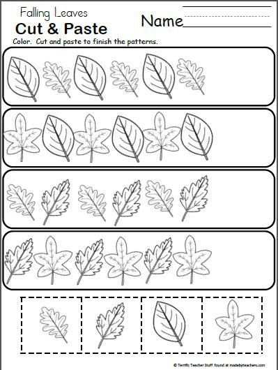 leaf pattern activities free pattern worksheet for kindergarten fall leaves