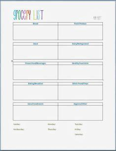 organized grocery list template grocery shopping list template home let s