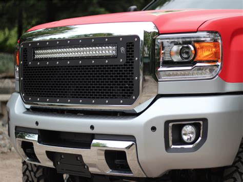 rigid led light bar installation rigid industries led grille kit with 30 quot rds led light bar