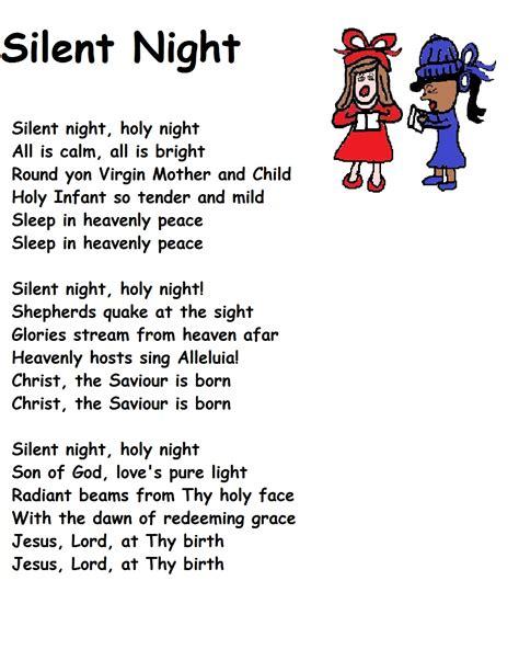 printable version of song lyrics silent night