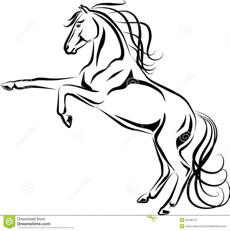 coloring page mustang horse horse black line clipart clipart suggest