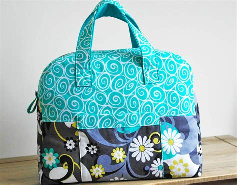 overnight tote bag pattern sewing pattern weekender overnight travel bag pn501 pdf