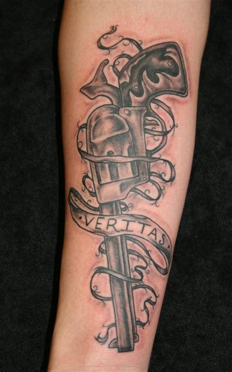 3d tattoo gun 30 mind blowing gun tattoos designs best 3d gun tattoo