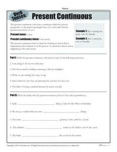 verb tense worksheets present continuous
