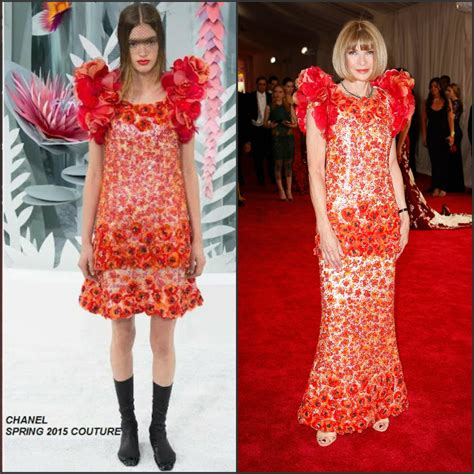 Who Wore Chanel Couture Better Wintour Or by Wintour In Chanel Couture At The 2015 Met Gala