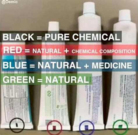 what do the colors on toothpaste fact check do color codes on toothpaste identify
