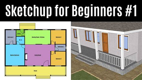 tutorial sketchup for beginner sketchup for beginners part 1 how to create your first