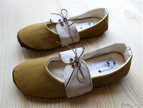 Handmade Vegan Shoes - organic vegan handmade shoes mustard oxford by hydraheart