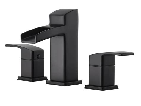 pfister lg49 df0b black kenzo widespread bathroom faucet