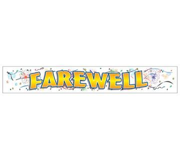 Giant Banner   Farewell   Party Supplies Online