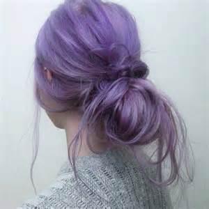 Pastel purple bun hair colors ideas
