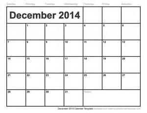 December Calendar Templates december 2014 calendar template