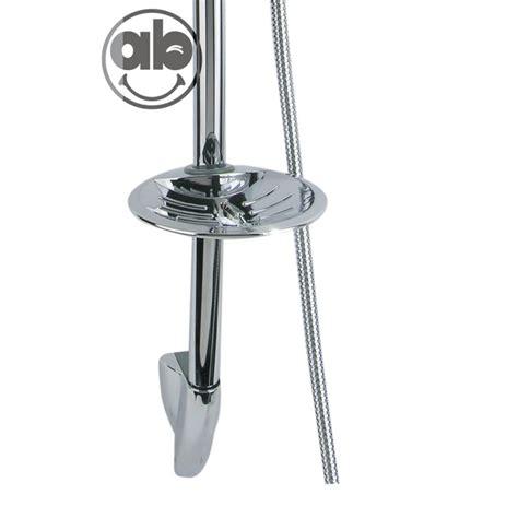 doccia con saliscendi saliscendi doccia con portasapone tubo in acciaio mono