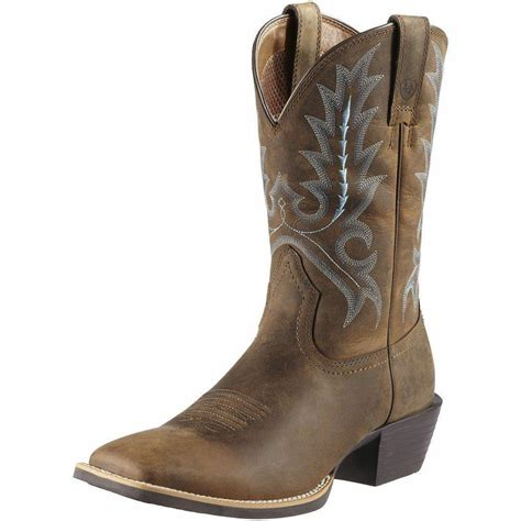 mens ariat western boots ariat western mens boots sport outfitter cowboy brown