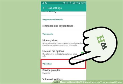 reset android version how to reset the voicemail icon on your android phone 14