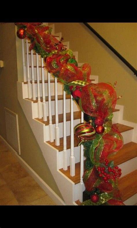 attractive Staircase Christmas Decorating Ideas #5: 83ade35cfb4edc49facec8da02fcb2f2.jpg