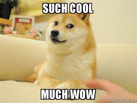 Much Doge Meme - such cool much wow doge make a meme