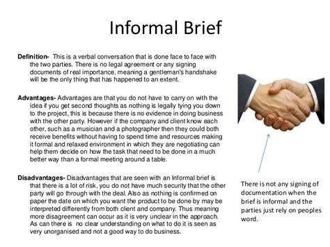 Informal Brief Beispiel Working To A Brief Task 2 Recipe Cards