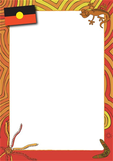 new year page border sparklebox aboriginal themed notepaper earlylearninghq australia