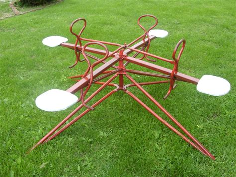 backyard merry go round 1956 push and pull kids merry go round collectors weekly