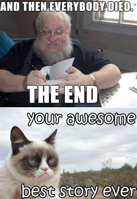 george   martin  grumpy cat  game  thrones www