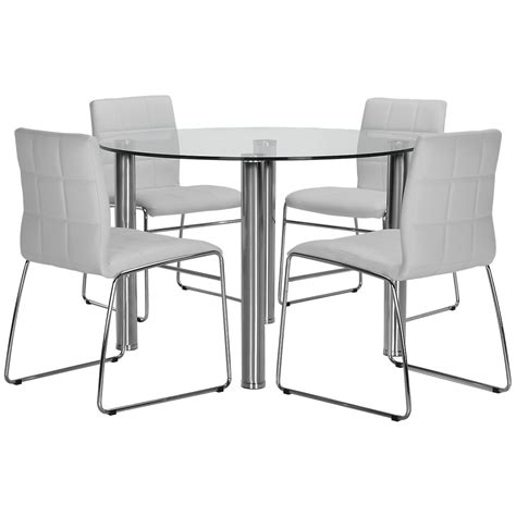 table with upholstered chairs napoli white table 4 chairs