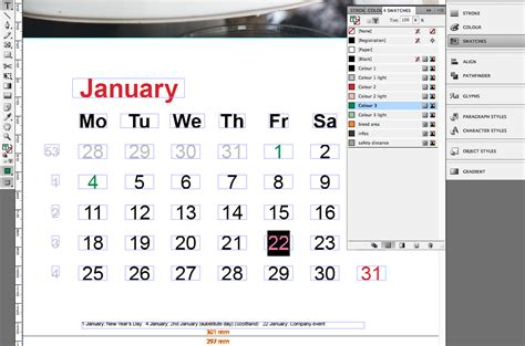 corporate calendar in indesign incl template 187 saxoprint