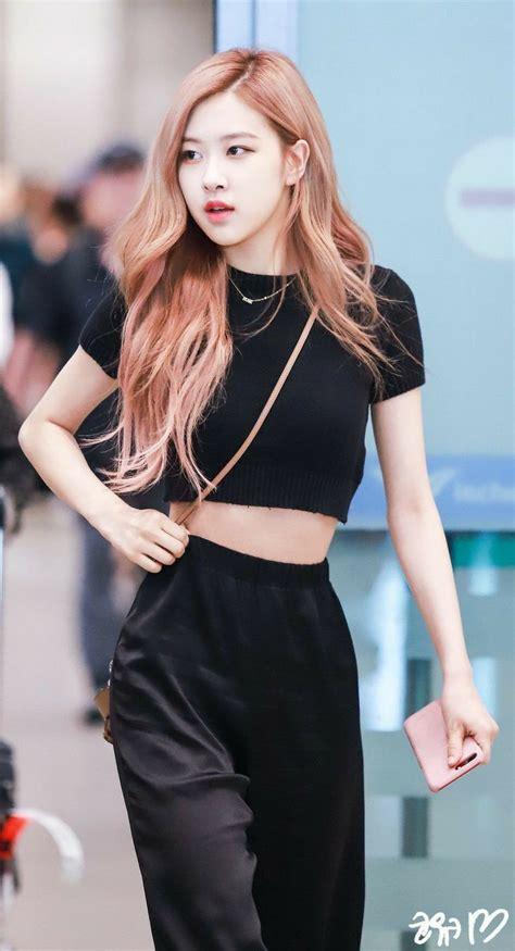 model rambut rose blackpink