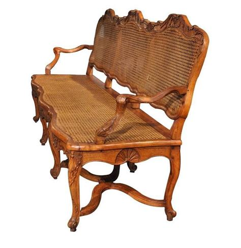 Settee With Back 19th Century Louis Xv Carved Walnut Settee With