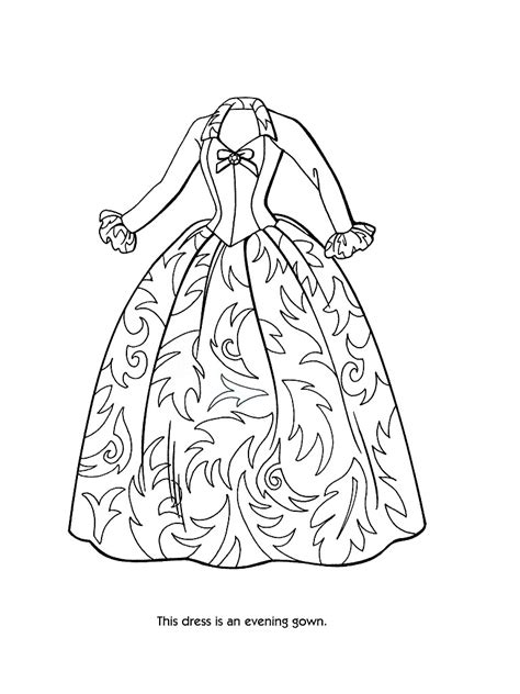 princess gown coloring pages fashion clothes coloring page only coloring pages