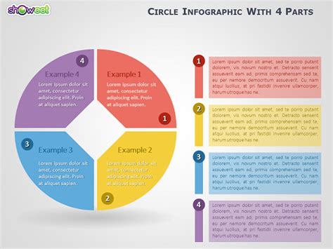 Circle Infographic with 4 Parts for PowerPoint