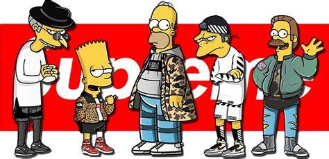 T Shirt Supreme Bart Simpsons Premium quot supreme quot stickers by tanguy2418 redbubble