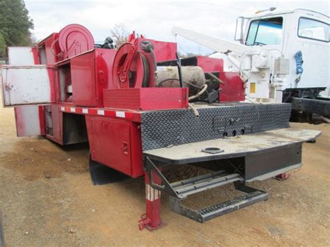 truck bed air compressor 16 truck service bed auto crane air compressor air hose reel j m wood auction