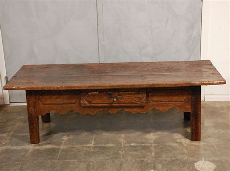 antique country coffee table with drawer image 2
