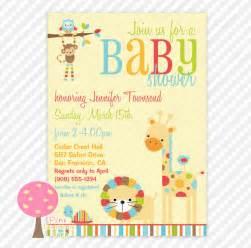 etsy baby shower invitations safari animals baby shower invitation by pinklemonadetree