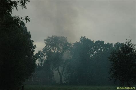 schuur finsterwolde 112groningen schuurbrand in finsterwolde
