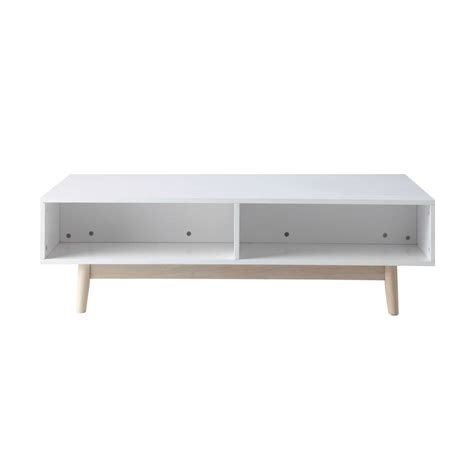 Wooden Coffee Table With Storage In White W 120cm Artic White Storage Coffee Table