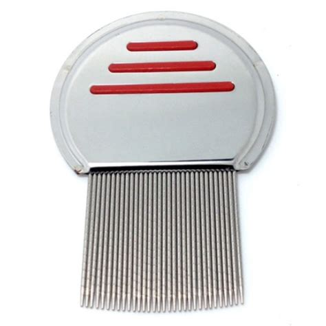 Sisir Kutu Silver Metal Nit Lice Comb Sisir Kutu Silver